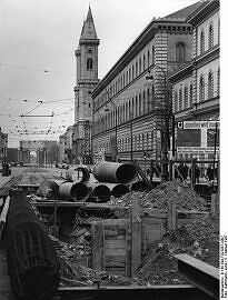 U-Bahn Bau in der Ludwigstraße 1967