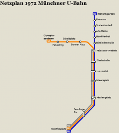 Netzplan Stand 31.12.1972