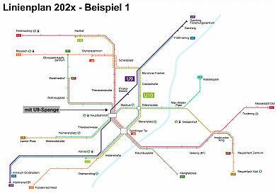 Beispiel für mögliches U-Bahn-Liniennetz 202x (mit U9-Spange)