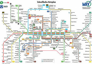 Schnellbahnnetzplan Juni 2001