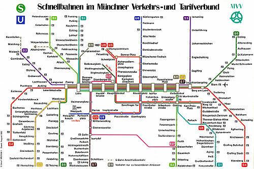 Schnellbahnnetzplan August 1982