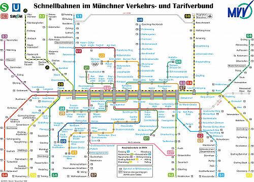 Schnellbahnnetzplan November 1997