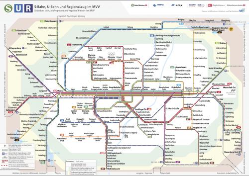 Schnellbahnnetzplan Dezember 2017