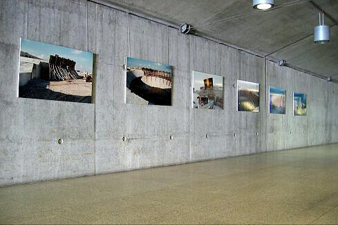 Bilder von den Bauarbeiten im Zwischengeschoss von Messestadt Ost