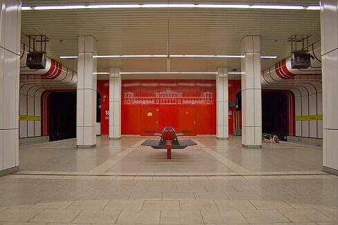 Südlicher Bahnsteigbereich am Ostbahnhof