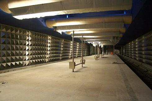Olympia-Einkaufszentrum (U3) im Bau