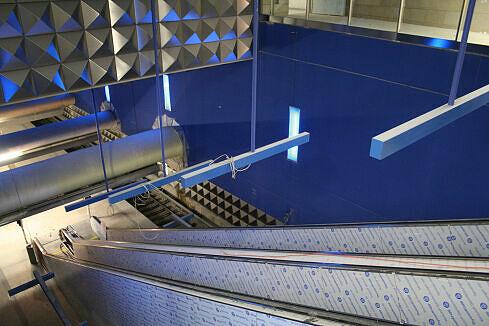 Olympia-Einkaufszentrum im Bau, Blick vom Sperrengeschoss