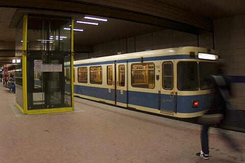 A-Wagen 132 im U-Bahnhof Implerstraße