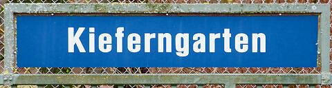 Stationsschild Kieferngarten