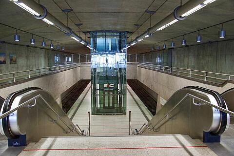 Östlicher Zugang zum U-Bahnhof Messestadt Ost