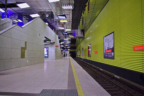 U-Bahnhof Münchner Freiheit nach dem Umbau