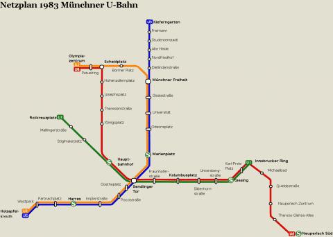 Netzplan Stand 31.12.1983