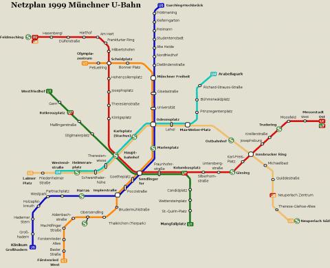 Netzplan Stand 31.12.1999