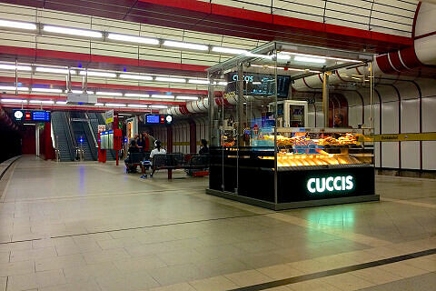 Kiosk im U-Bahnhof Ostbahnhof