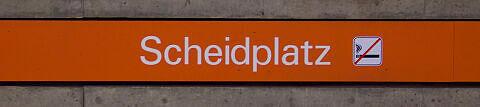 Stationsschild Scheidplatz