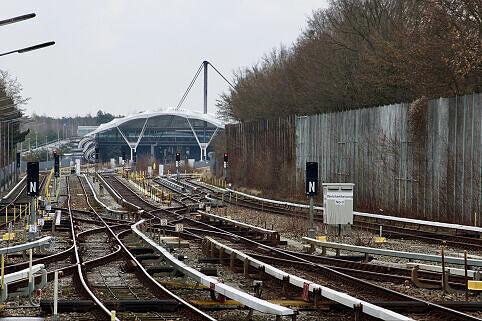 Strecke der U6 zwischen Kieferngarten und Fröttmaning
