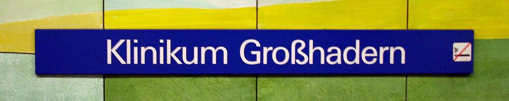 Stationsschild Klinikum Großhadern