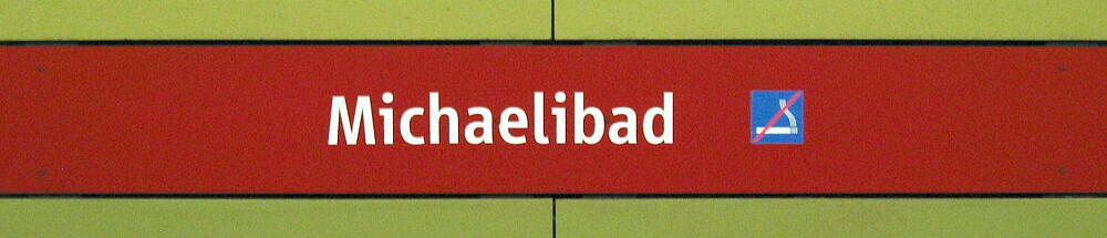 Stationsschild Michaelibad