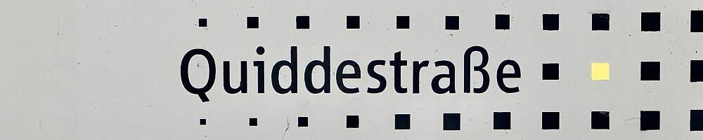 Stationsschild Quiddestraße