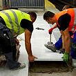 Sendlinger Tor: neuer Bahnsteigbelag wird verlegt