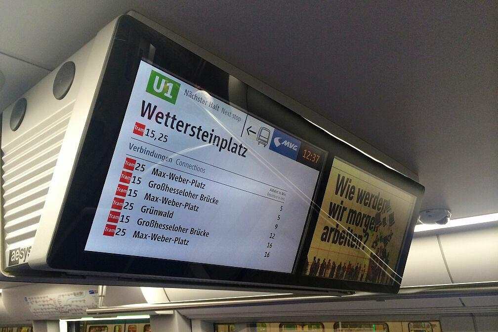 Fahrgastfernsehen im C2-Zug